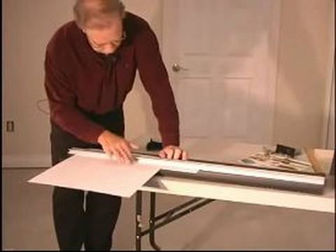 How to Frame and Matte Pictures : More Ways to Cut with a Beveled Knife for Picture Framing