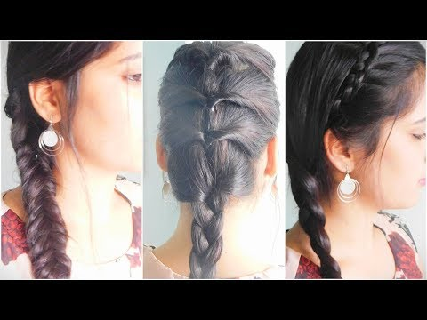 3 CUTE & EASY Braid Hairstyle ||TipsToTop By Shalini