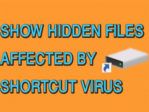 How to show hidden files infected by shortcut virus in USB flash pendrive - Unhide virus files