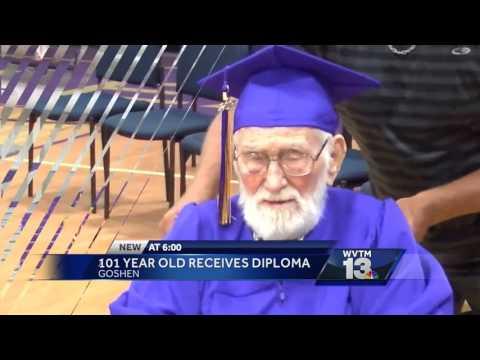 101-year-old man earns diploma at Goshen High School