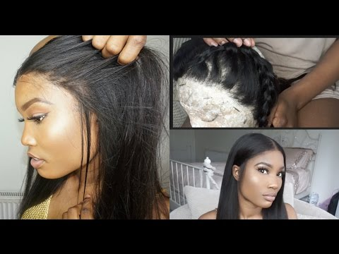 How I pluck/make a lace frontal wig - Customise hairline and more (beginner friendly)