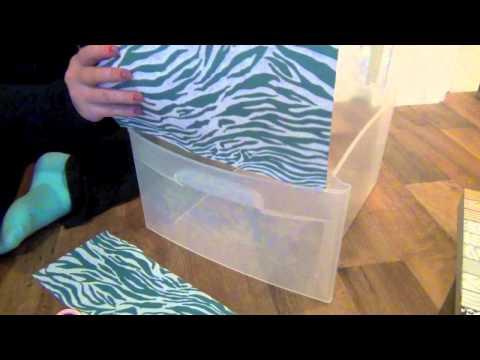 DIY: Decorating Plastic Bins