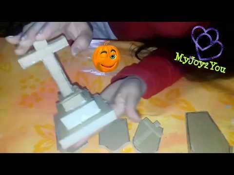 DIY Cardboard Miniature Tombstones & Coffin/ Miniature Graveyard Part 2