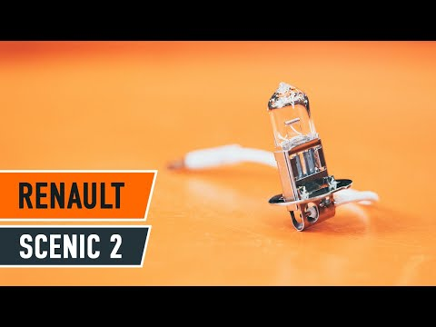 How to replace fog light lamp bulb on RENAULT SCENIC 2 TUTORIAL | AUTODOC