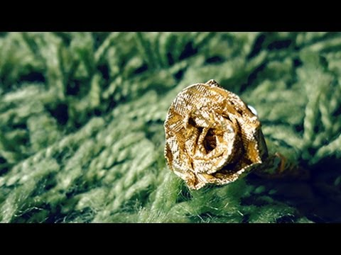 How to fold a Ferrero Rocher / Hershey rose