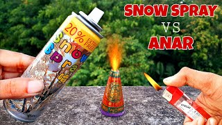 Snow Spray VS Diwali Anar Experiment || Diwali Special Experiment 2020