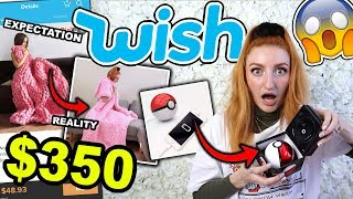 I SPENT $350 AT WISH!!! EXPECTATION VS REALITY HAUL (2019)