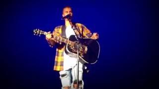 Justin Bieber performing Cold Water (Acoustic) Purpose Tour Japan