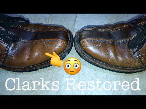 👞Clarks Shoes Restored Leather Dress Shoes by SofSole Shoe Polish from Shoe Station