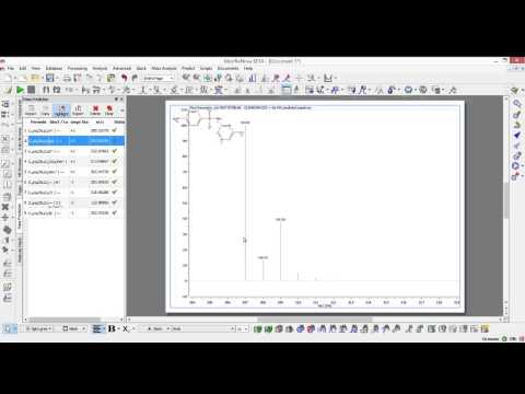 Mnova MS :predicting the MS spectrum for a proposed compound or for a molecular formula.
