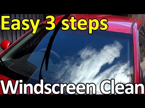How to clean a WINDSCREEN (Top detailing SECRET)