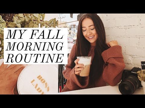 MY FALL 2017 MORNING ROUTINE! | Caitlin Bea
