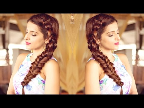 Hairstyle For Medium To Long Hair for Prom, Party | Indian Hairstyles | Side Dutch Braid Hairstyle