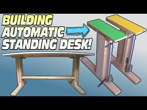 How To BUILD a Standing Desk   Building Convertible Electric Workstation For Easy DIY Stand Up Desks