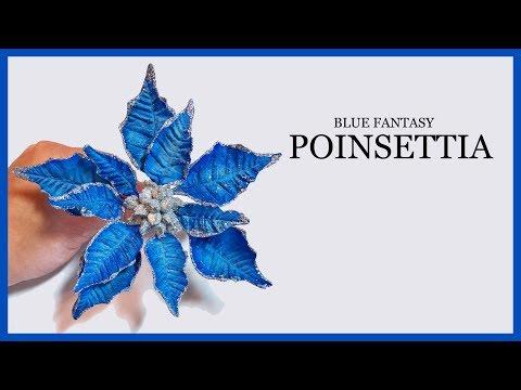 Gumpaste/ Sugar Craft Poinsettia: Blue Fantasy Christmas - Holiday