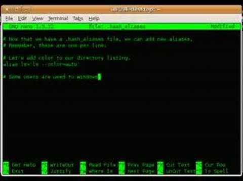How To: Add aliases to bash