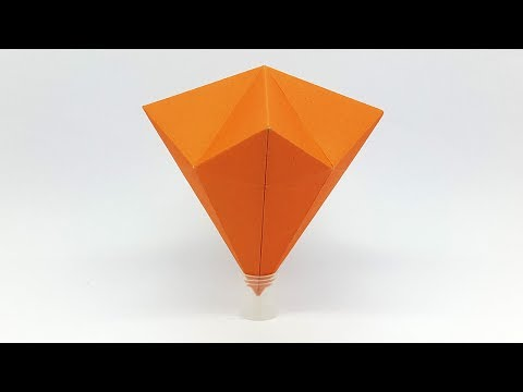 How to make a Paper Diamond Easy and Simple Way - Origami Diamond