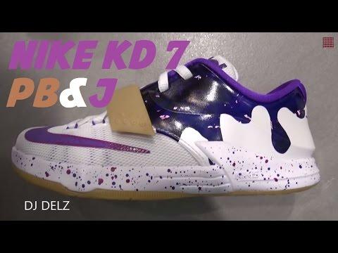 Nike KD 7 Peanut Butter & Jelly PB&J GS Sneaker Review W/ @DjDelz