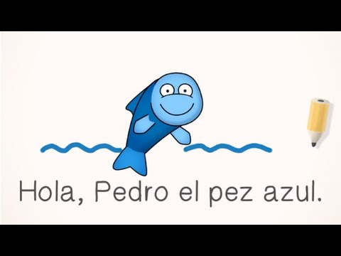 FREE Spanish Lesson for Kids - Pedro el pez (Programs for Schools, Families, and Homeschools)