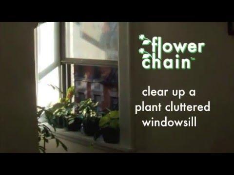 flower chain window garden