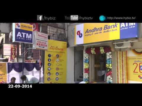 Andhra Bank Opens 2000th ATM in Panjagutta