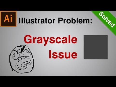 How to SOLVE Illustrator Grayscale Color Problem | Illustrator Tutorial