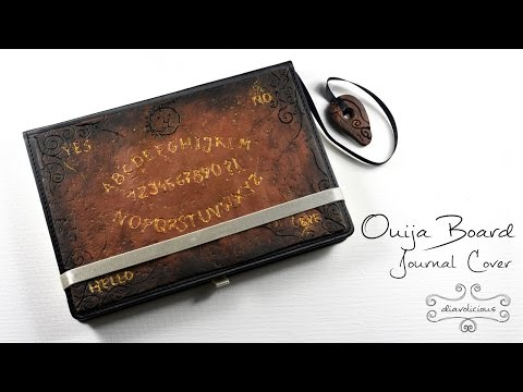 Ouija Board journal cover - Halloween polymer clay TUTORIAL