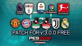 Pes 2019 Mobile official 2 3 3 Patch New Graphics Menu 18/19 Kits