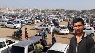 Used Car Sunday Bazar in Karachi | Custom Paid Used Car in Karachi Pakistan | Car Market May 2019