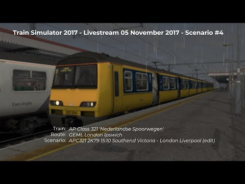 APC321: 2K79 15:10 Southend Victoria - London Liverpool Street (Livestream 05/11/2017)