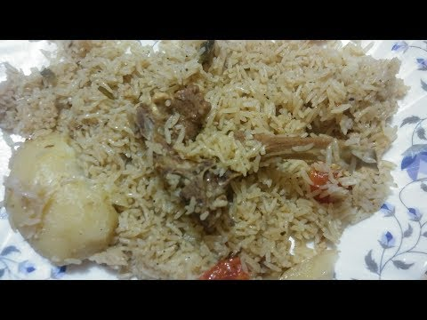 Muslim style pulao recipe in hindi l muton pulao l easy cooker pulao at home