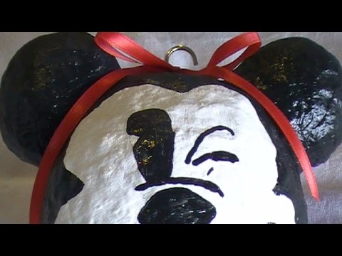 How to Make a Paper Mache Mickey Face Ornament