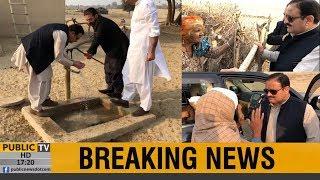 CM Punjab Usman Buzdar visits Cholistan without protocol, driving the car himself