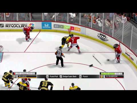 NHL 14 gameplay Demo and Epic Hockey Fights!