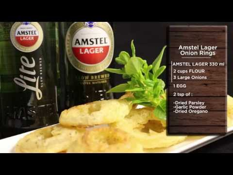 Amstel Lager Onion Rings