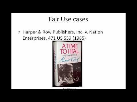 Copyright and Fair Use - Davis McGrath LLC IP Webinar Series - February 8, 2012