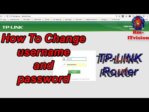How To Change TP-Link username and password, Change the admin username or password of tp-link Router