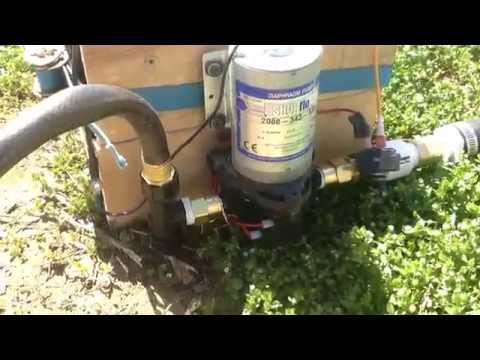 Battery operated pump drip irrigation system 12v