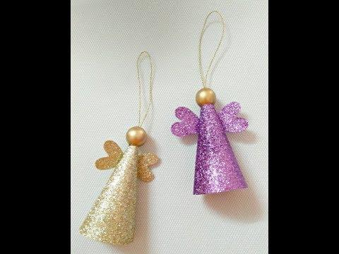 How to make a Christmas Angel, DIY Christmas Ornament, Beautiful tree ornament