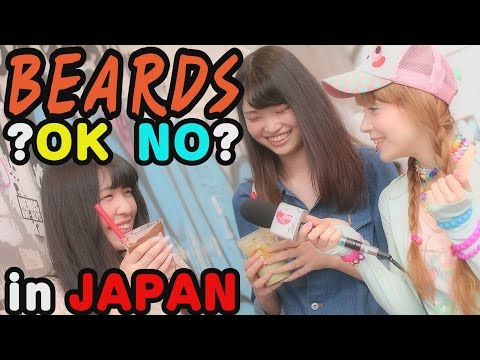 Are BEARDS OK in Japan? Ask Japanese girls and boys about their opinion on facial hair