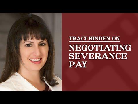 How do I negotiate for severance pay?