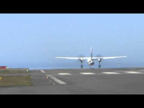 Plane taking off from Reykjavik domestic airport
