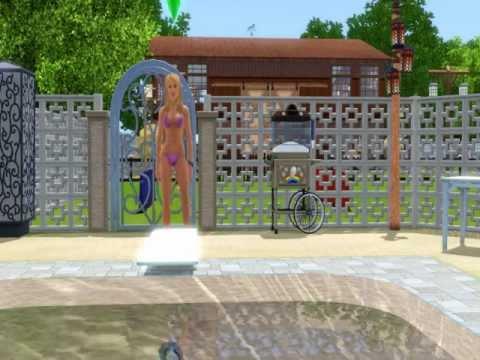 Sims 3 - Sim Having Fun off Diving Board!