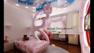 #x202b;ديكورات غرف الاطفال ، تشطيبات داخلية ، اسقف معلقة جبس بورد#x202c;lrm;