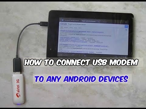Connect USB 3G Modem To Android Phone or Tablet