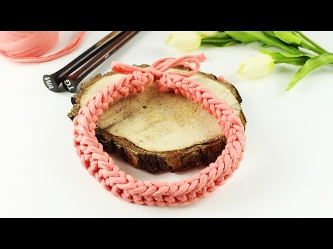 Knitted Necklace DIY | TUTORIAL - Wool And The Gang ( Statement necklace tutorial )