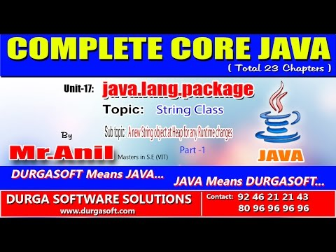 Core Java -  java.lang.package -  A new String object at Heap for any Runtime changes-Part-1