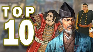 Top 10 Greatest Samurai Leaders