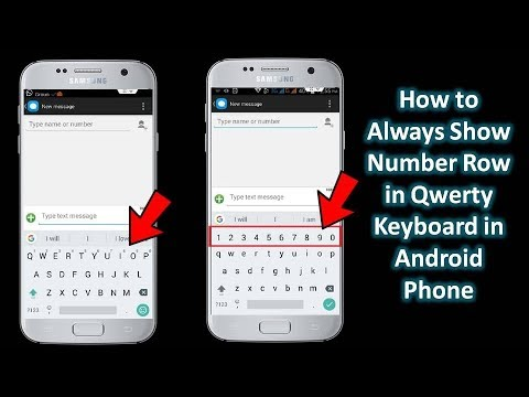 How to Always Show Number Row in Qwerty Keyboard in Android | AQ Tech Hindi