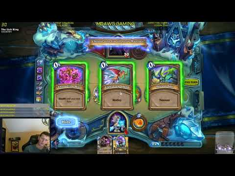 Hearthstone how to beat the Lich King with Mage